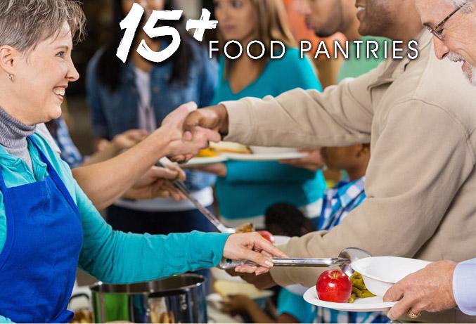 15+ Food Pantries