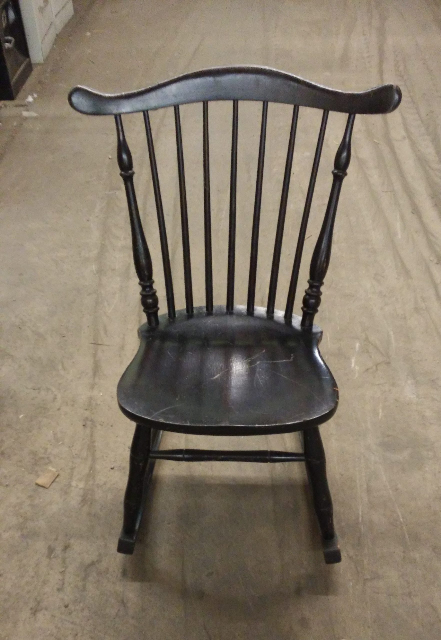 Kids' Antique Wooden Rocker/ Rocking Chair For Sale - Used