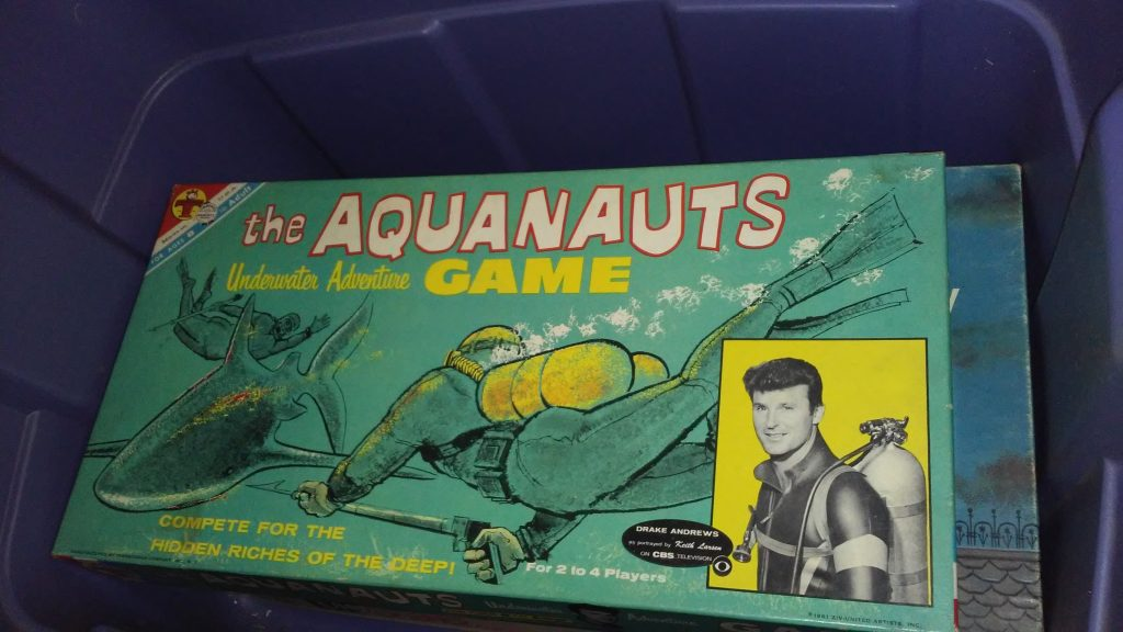 Vintage/Antique The Aquanauts Board Game - Used