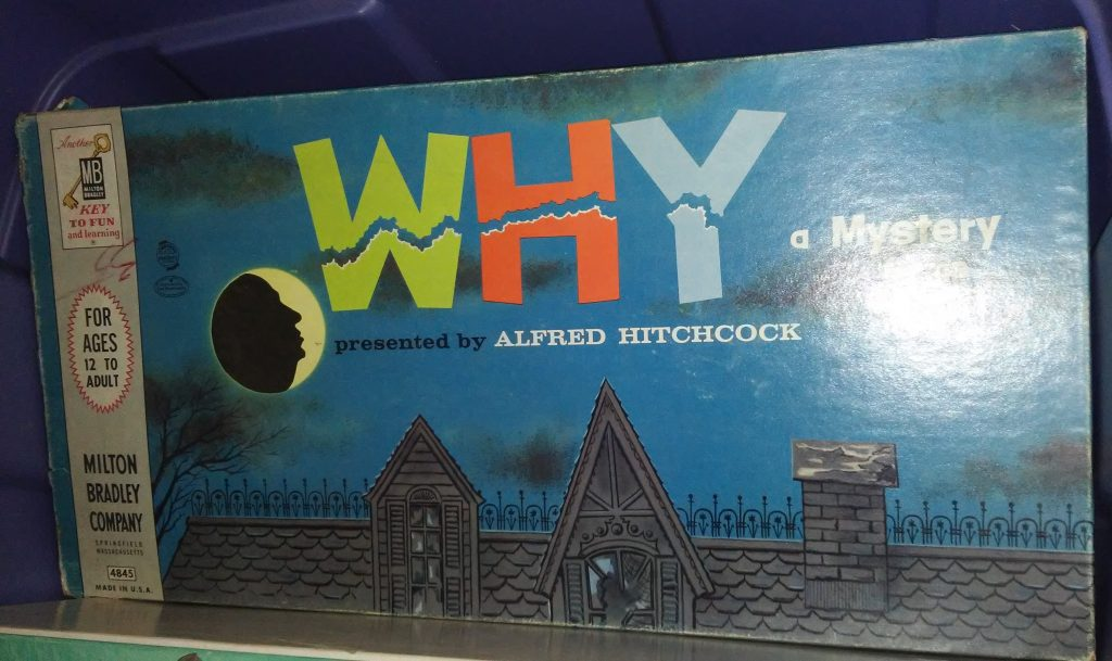 VINTAGE 1958 WHY Mystery Game Presented by ALFRED HITCHCOCK - Used