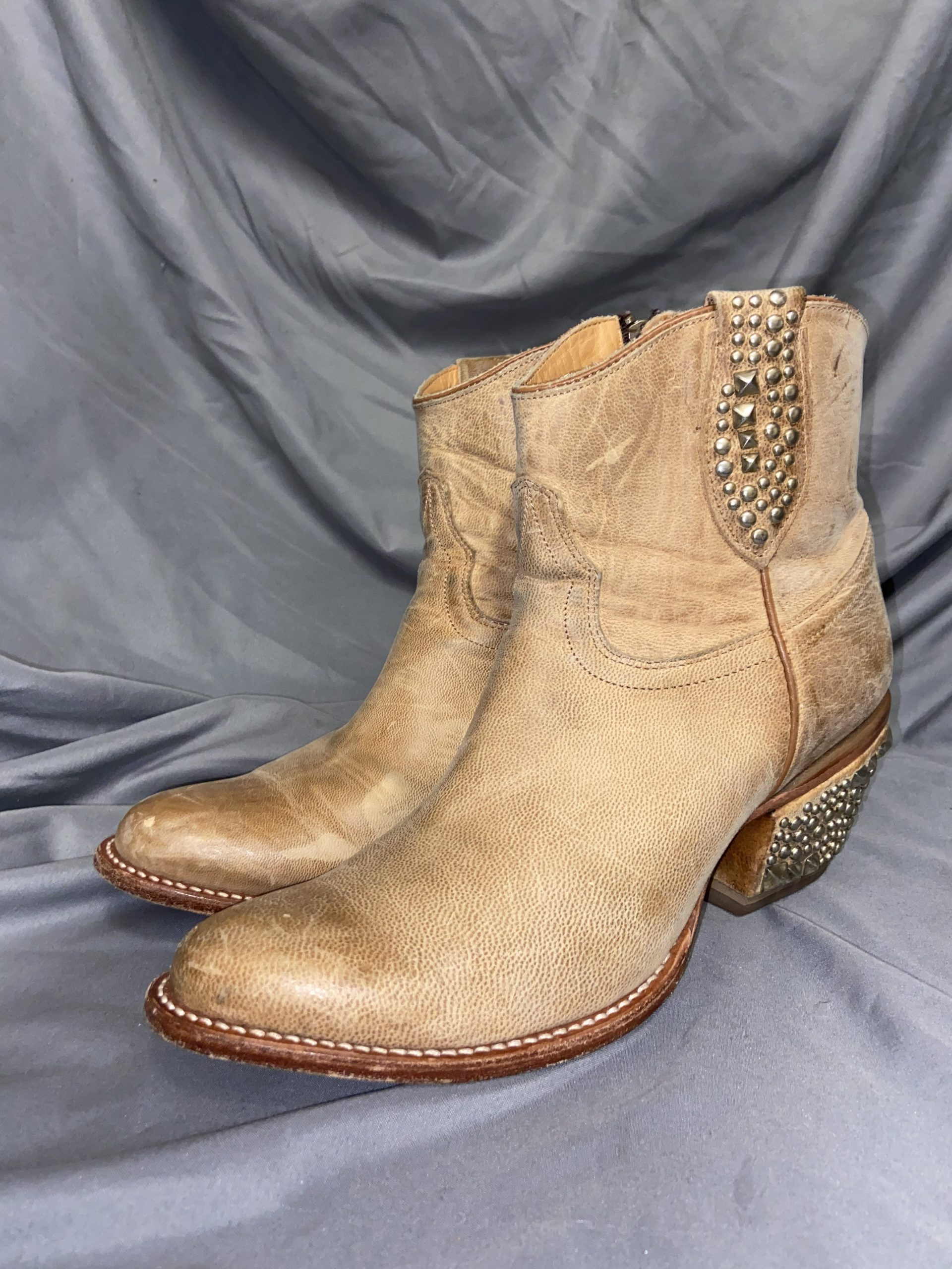 Lucchese Studded Accents Western Boots